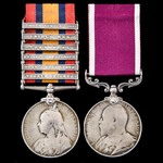 South Africa Boer War Relief of Ladysmith and long service pair awarded to Corporal E. Simmons, M...