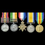 South Africa Boer War Relief of Ladysmith and Great War 1914 group awarded to Corporal Wheeler la...