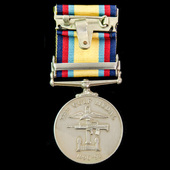 Gulf Medal 1990-1991, Clasp: 16 Jan to 28 Feb 1991, awarded to a civilian, Security Guard S.S. Ge...