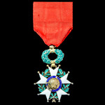 France: Order of the Legion of Honour, Knight Grade, 3rd Republic 1870-1951 issue, silver-gilt an...