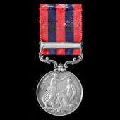 An India General Service Medal 1854-1895, 1 Clasp: Pegu, awarded to Captain P.B. Young, 19th Madr...