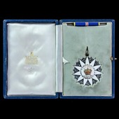 Malaysia: Order of the Defender of the Realm, Commander grade, in gold-plated silver and enamel, ...