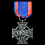 Germany – Imperial – States: Oldenburg Friedrich August Cross 2nd Class on Combatants ribbon, ear...