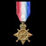 1914-1915 Star awarded to Serjeant A. Buttle, Suffolk Regiment, later South Lancashire Regiment, ...