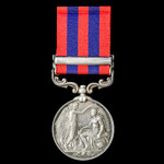 India General Service Medal 1854-1895, 1 Clasp: Perak awarded to Private T. King, 1st Battalion, ...