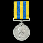 Korea Medal 1950-53, 2nd type obverse awarded to Trooper F. McCarthy, Royal Tank Regiment who saw...