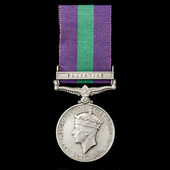 General Service Medal 1918-1962, GVI 1st type, 1 Clasp: Palestine awarded to Fusilier J.J. Connel...