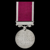 Regular Army Long Service and Good Conduct Medal, GVI 1st type bust, awarded to Staff Sergeant P....