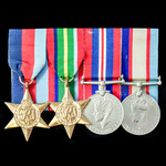 A Second World War Australian Home Service group awarded to J.C. Poole, Australian Military Force...
