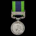 India General Service Medal 1908-1935, 1 Clasp: North West Frontier 1930-31, awarded to Trooper J...