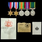 Second World War North West Europe Recce Corps Officer's Territorial long service group awarded t...