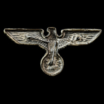 Germany – Third Reich: NSDAP Political Visor Cap Eagle, gilded alloy form, RZM marked M1/2 for Ri...