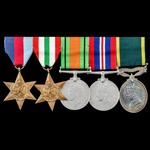 Second World War Italian Campaign and Territorial long service group awarded to Lieutenant S.D. G...