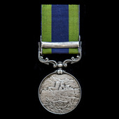 India General Service Medal 1908-1935, 1 Clasp: Malabar 1921-22, awarded to Staff Sergeant H.E.C....