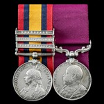 South Africa Boer War Elandslaagte and Defence of Ladysmith long service pair awarded to Corporal...