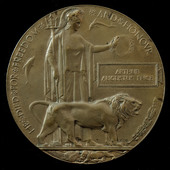 Great War German Spring Offensive Memorial Plaque named to Arthur Augustus Price, a Private in th...