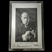 Italy - Fascist period: A rare framed personal presentation photograph of Benito Mussolini as tak...