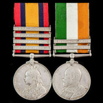 A South Africa Boer War pair awarded to Private T.T. Robinson, City Imperial Volunteers, late of ...