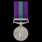 General Service Medal 1918-1962, GVI, 1 Clasp: Palestine 1945-48, awarded to Driver W.L.A. Webb, ...