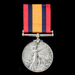Queen's South Africa Medal 1899-1902, no clasp, awarded to Trooper F.J. Nicholson, East London Di...