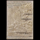 Hungary: Fourth Hungarian Pilots' Picnic 1937 Commemorative Plaque, a uniface bronze plaque by Be...
