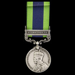 India General Service Medal 1908-1935, 1 Clasp: Burma 1930-32, awarded to Private H. Round, Oxfor...