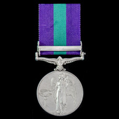 General Service Medal 1918-1962, GVI, 1 Clasp: Palestine 1945-48 awarded to Private R. McMillan, ...
