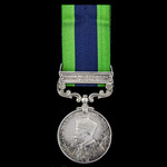 India General Service Medal 1908-1935, 1 Clasp: North West Frontier 1930-31, awarded to Private D...