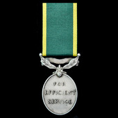 Efficiency Medal, GVI 2nd type bust, Territorial suspension, awarded to Captain E.M. Mannheim, Ro...