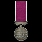 Regular Army Long Service and Good Conduct Medal, GVI 1st type bust, awarded to Warrant Officer C...