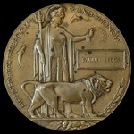 First Day of the Somme Great War Memorial Plaque named to Samuel Beggs, a Private with the 9th Se...