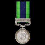 India General Service Medal 1908-1935, 1 Clasp: Burma 1930-32, awarded to Private F. O'Connor, 2n...