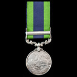 India General Service Medal 1908-1935, 1 Clasp: North West Frontier 1930-31, awarded to Private V...