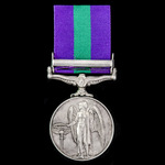 General Service Medal 1918-1962, GVI, 1 Clasp: Palestine 1945-48, awarded to Private D. Cameron, ...