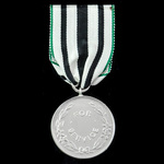 St. John Ambulance Brigade of Ireland Service Medal, an unnamed white metal with double ring susp...