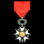France - Order of the Legion d'Honneur, Knight, Fourth Republic issue in silver gilt and enamel