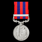 India General Service Medal 1854-1895, 1 Clasp: Perak, awarded to Private William Benson, 1st Bat...