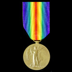Victory Medal awarded to Private P.M. Carey, 15th Battalion, Welsh Regiment, 'The Carmarthen Pals...