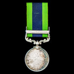 India General Service Medal 1908-1935, 1 Clasp: North West Frontier 1935 awarded to Private J. Gi...