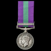 General Service Medal 1918-1962, GVI, 1 Clasp: Palestine 1945-48 awarded to Lance Corporal R. Phi...