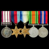 Palestine Arab Rebellion and Second World War Battle of the Atlantic group awarded to Telegrapher...