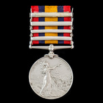 Queen's South Africa Medal 1899-1902, 4 Clasps: Cape Colony, Orange Free State, Johannesburg, Dia...