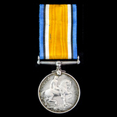 Scarce civilian's sole entitlement British War Medal 1914-1919 awarded to Reverend S. Cook, who s...