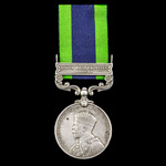 India General Service Medal 1908-1935, 1 Clasp: North West Frontier 1930-31, awarded to Trooper E...