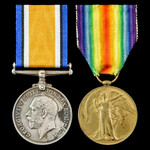Great War pair awarded to Private H. Dennis, The Queen's Royal West Surrey Regiment, Territorial ...