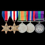 """Second World War Normandy """"Bocage"""" Officer Casualty and post-war Palestine Jewish Revolt group aw..."""
