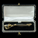 Royal Navy Officer's Sword Miniature Gold and Enamelled Brooch, gold and enamel, unmarked, circa ...