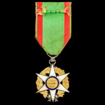 France: Order of Agricultural Merit, Knight Grade, silver, silver-gilt and enamels. A good qualit...