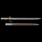 Great Britain – An extremely rare Mark I 1907 Pattern Bayonet with Hooked Quillon. The blade stam...
