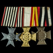 Germany – Imperial: A Prussian War Cross Group of 3 awards, comprising: GERMANY, PRUSSIA, Merit C...